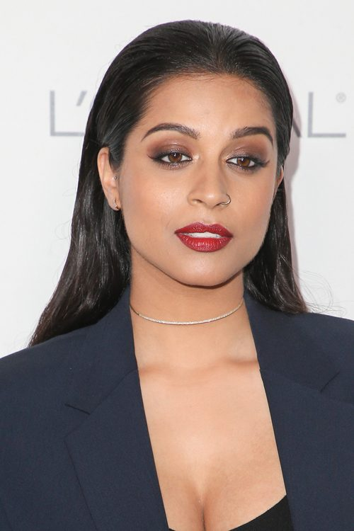 Lilly Singh Straight Dark Brown Hairstyle Steal Her Style