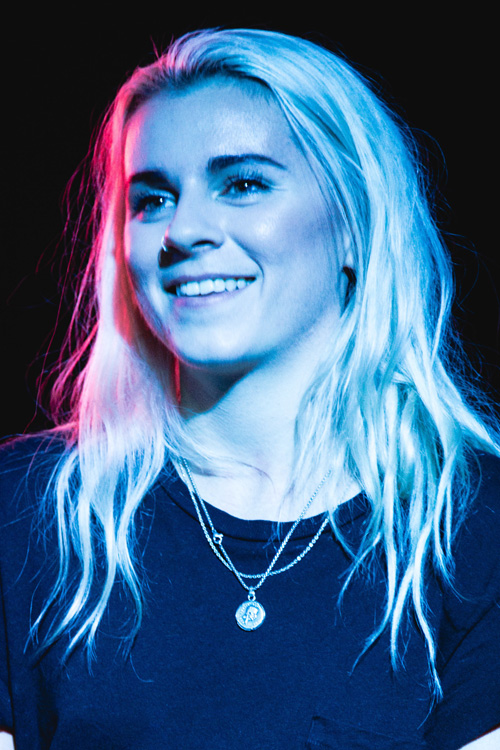 Lynn Gunn Wavy Platinum Blonde Long Layers Hairstyle