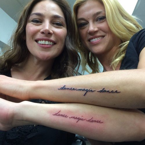 adrianne palicki s 7 tattoos meanings steal her style