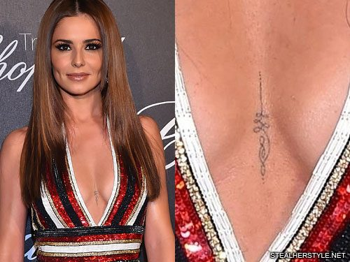 b3c591cd1 BACKGRID. 1 Comment. Cheryl Cole got this little swirl tattoo ...