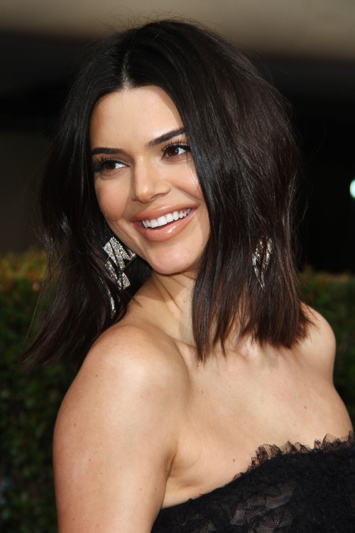 Kendall Jenner Straight Dark Brown Choppy Layers Hairstyle ...Kendall Jenner 2013 Hair