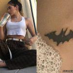 Maggie Lindemann bat ankle tattoo