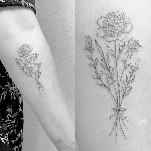 sasha pieterse flowers forearm tattoo steal her style