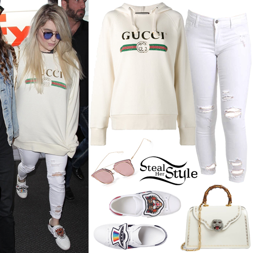 Kesha u0027Gucciu0027 Hoodie White Ripped Jeans & Kesha Clothes u0026 Outfits | Steal Her Style