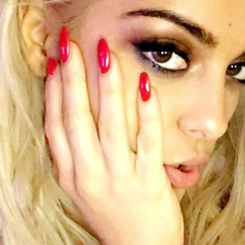 Bebe Rexha Red Nails Steal Her Style