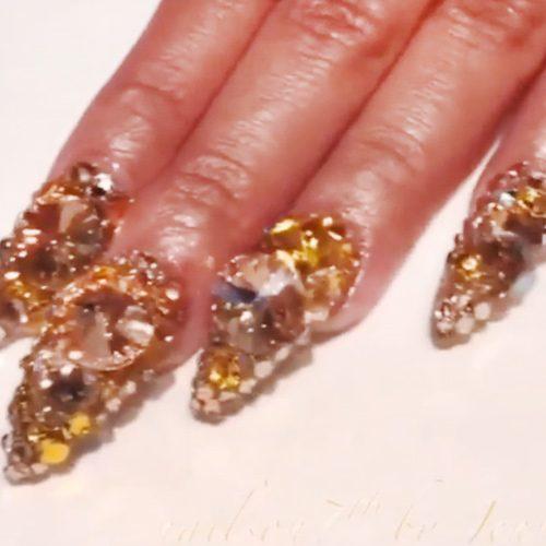 Cardi B Nails: Cardi B Gold Jewels, Nail Art Nails