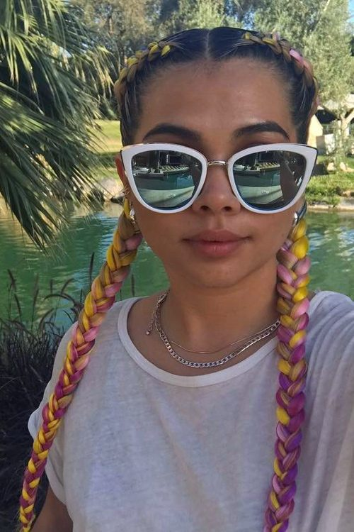 106 Celebrity Pigtail Braids Hairstyles Steal Her Style