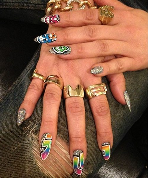 Jennifer lopezs nail polish nail art steal her style instagram tombachik prinsesfo Image collections
