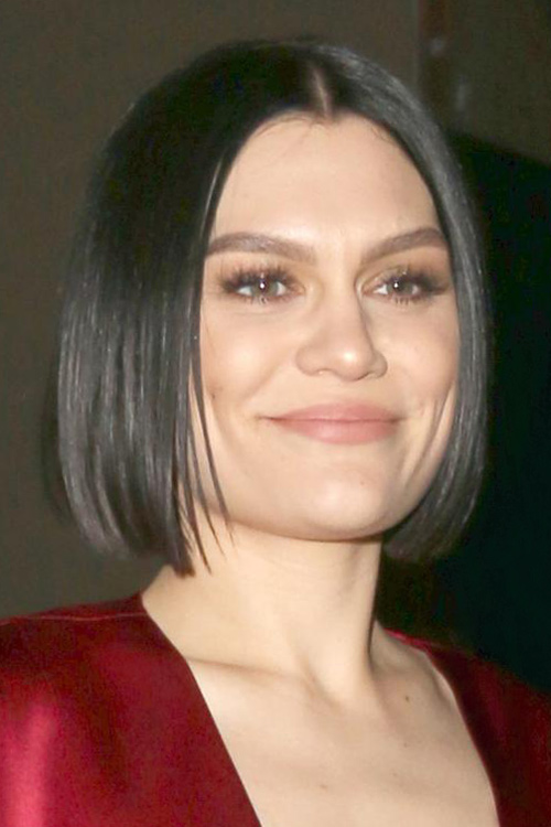 Jessie J Straight Black Blunt Cut Bob Hairstyle Steal
