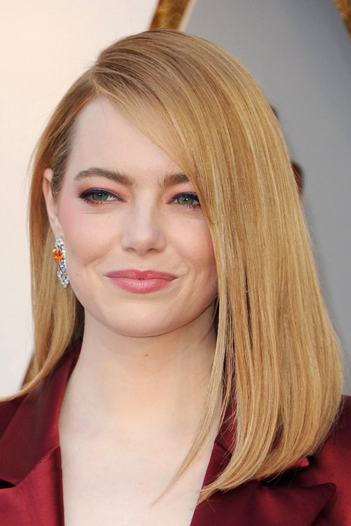 Emma Stone Straight Ginger Blunt Cut Hairstyle Steal Her