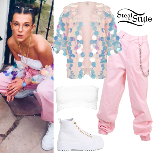 90b84efea48d Millie Bobby Brown Clothes & Outfits | Steal Her Style