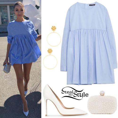 ecab418a1f1 Olivia Culpo  Blue Mini Dress