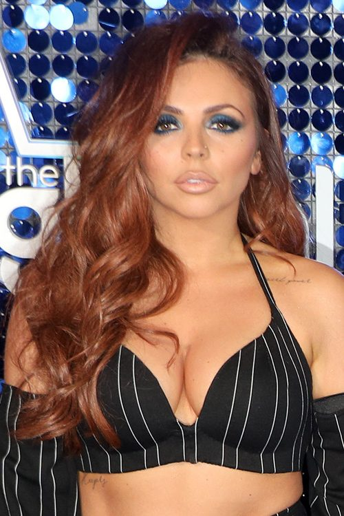 Jesy Nelson Wavy Ginger Side Part Hairstyle Steal Her Style