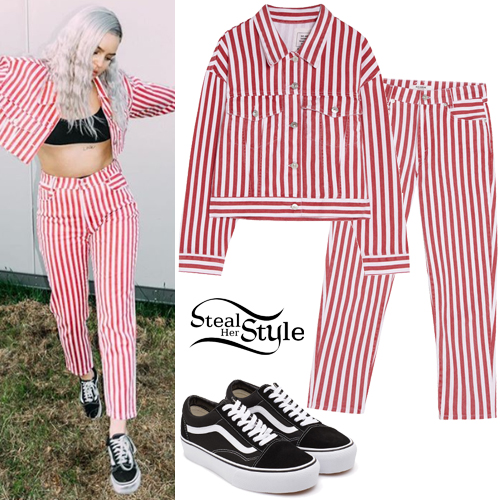 fd7bff9e53 Red White Stripe Jacket and Pants