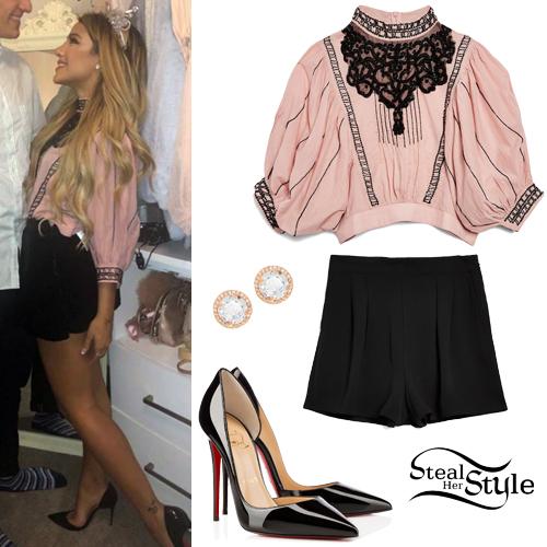 facace82cf679 Gabriella DeMartino  Pink Beaded Blouse