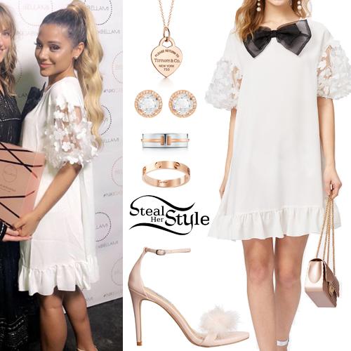 71d6a29d306f2 Gabriella DeMartino  White Embellished Dress