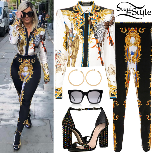 Bebe Rexha Baroque Printed Shirt And Pants Steal Her Style