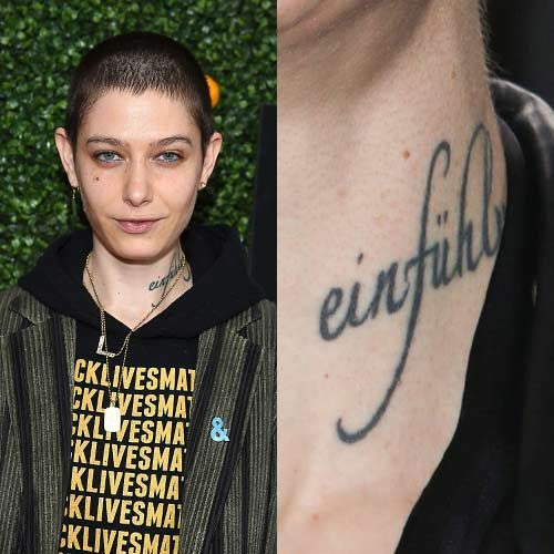 Image result for asia kate dillon neck tattoo