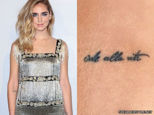 13 Celebrity Italian Tattoos Steal Her Style
