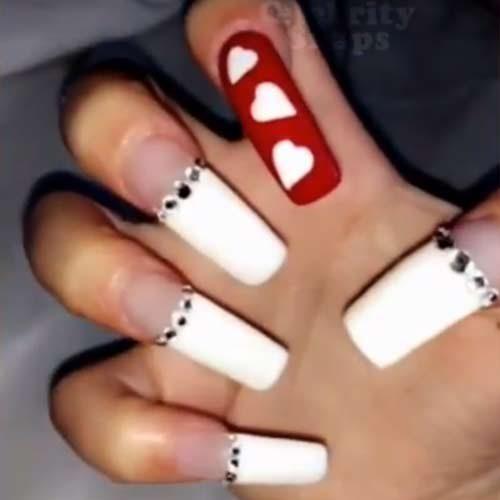 346e836ddf99 434 Celebrity Red Nail Polish Photos