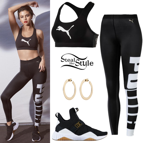 Selena Gomez: Puma Sport Bra and Leggings | Steal Her Style