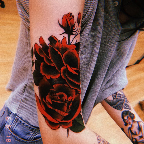 Bishop Briggs Rose Upper Arm Tattoo   Steal Her Style