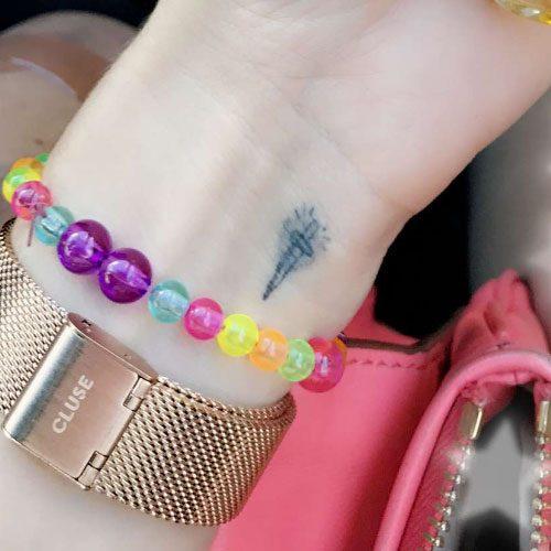 Debby Ryan Dagger Wrist Tattoo | Steal Her Style
