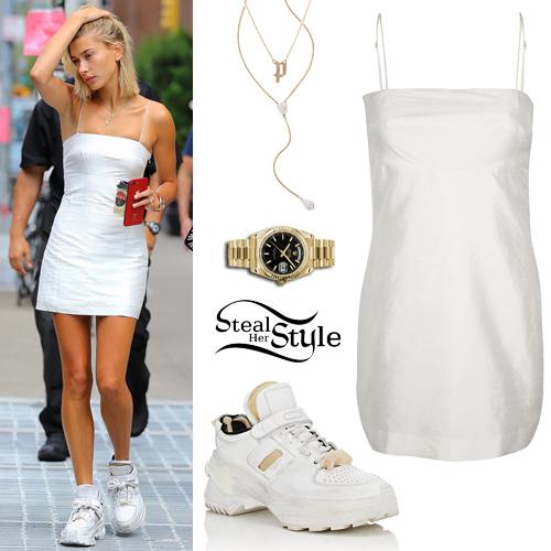 White Mini Dress, Chunky Sneakers