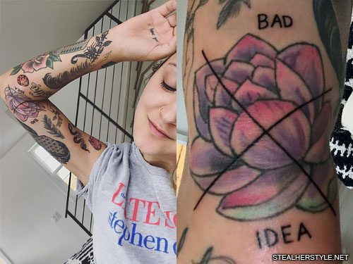 b41bcff77 177 Celebrity Elbow Tattoos | Steal Her Style
