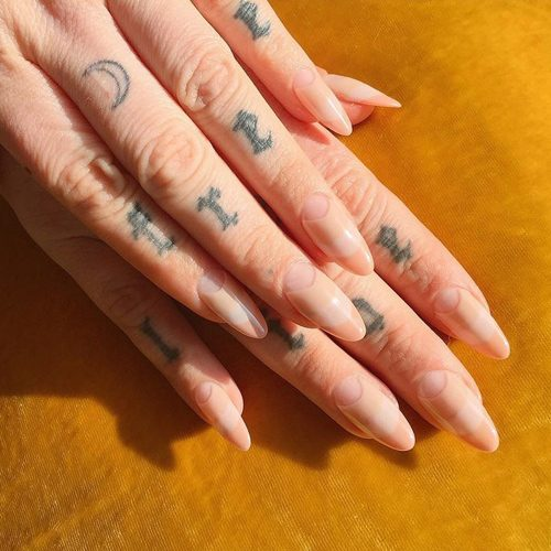 62 Celebrity Nail Art Photos With Half Moon Steal Her Style