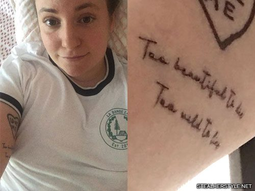 Lena Dunham S 24 Tattoos Meanings Steal Her Style
