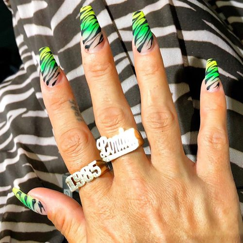 Lily Allen S Nail Polish Nail Art Steal Her Style