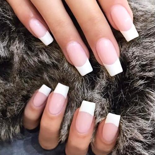 Nina Dobrev Peach Nails | Steal Her Style
