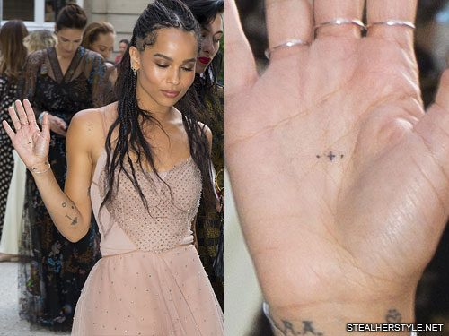 f4ae98d76351a Zoë Kravitz's 55 Tattoos & Meanings   Steal Her Style