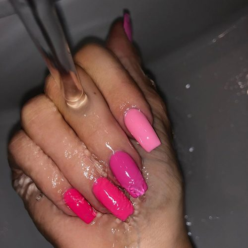 224 Celebrity Light Pink Nail Polish Photos Steal Her Style