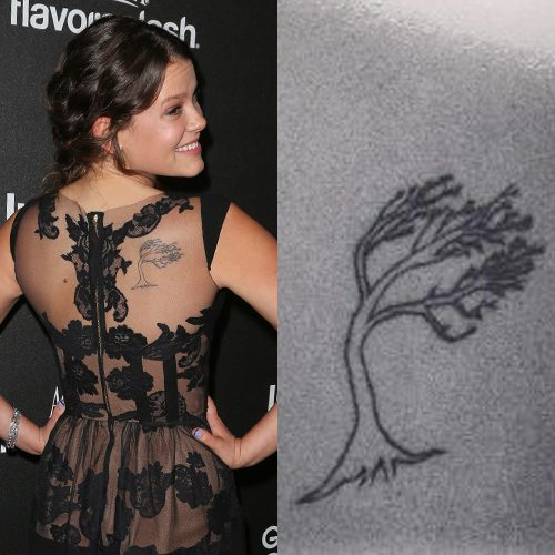 Sosie Bacon Tree Shoulder Blade Tattoo Steal Her Style
