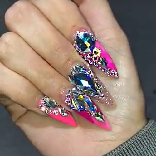 258 Celebrity Nail Art Photos with Jewels   Steal Her Style