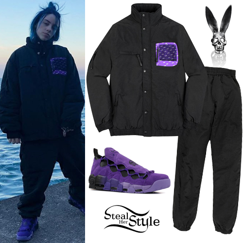 Billie Eilish Black Puffer Jacket And Pants Steal Her Style