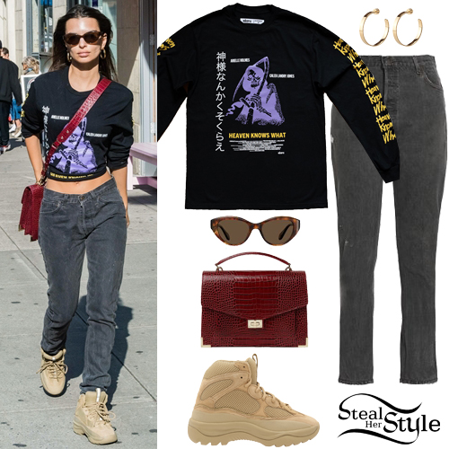 30bbfba5fd6cb Emily Ratajkowski Clothes & Outfits | Steal Her Style