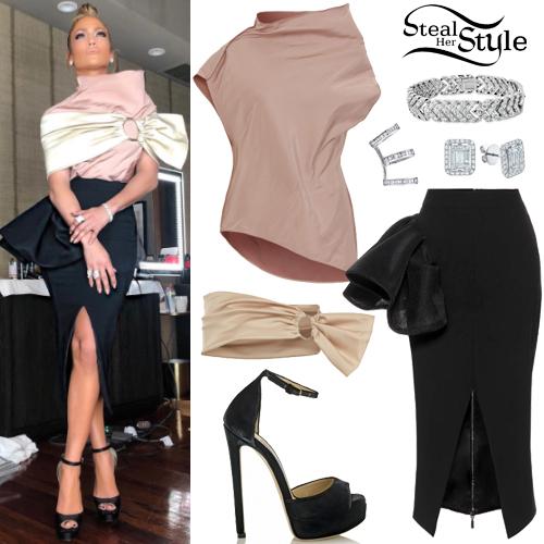 f8afbd9bbf9 Jennifer Lopez  Satin Blouse