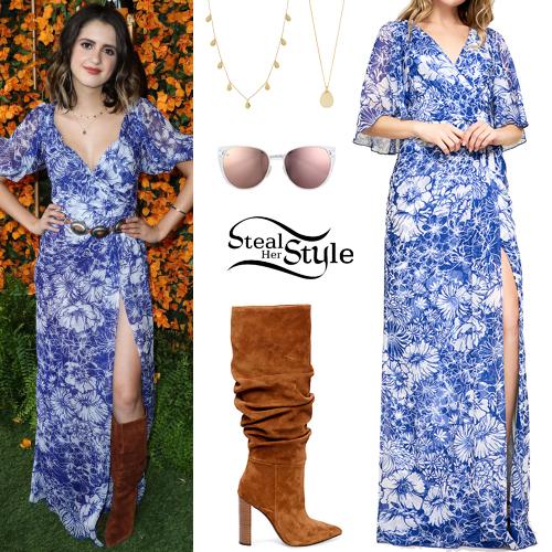 a59858bcb18f Laura Marano  Floral Maxi Dress