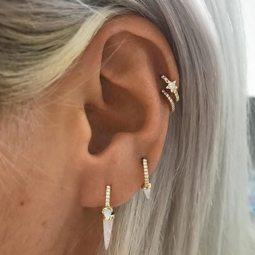 147 Celebrity Helix Cartilage Piercings Steal Her Style