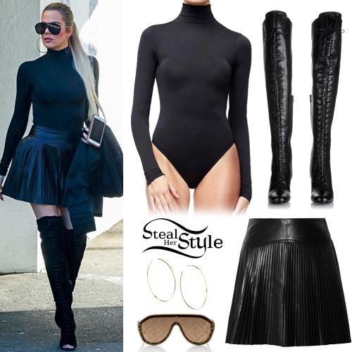 731092bb68 Khloe Kardashian  Black Bodysuit