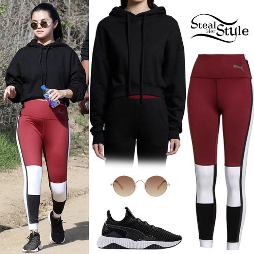 ef7235ef20d9 Selena Gomez  Black Crop Hoodie