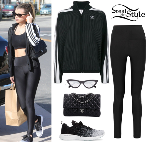 low priced 6ef4e 01fd8 Sofia Richie  Black Track Jacket and Leggings