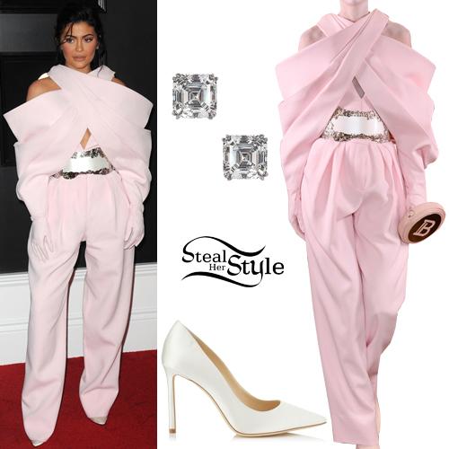 7e7930dcd3644 Kylie Jenner  2019 GRAMMY Awards Outfit
