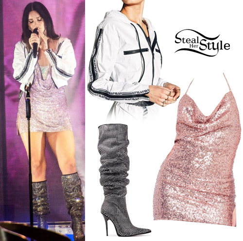 Lana Del Rey Sequin Mini Dress White Jacket Steal Her Style