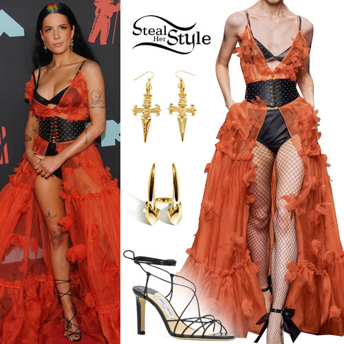 Halsey 2019 Mtv Vmas Outfit Steal Her Style