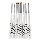 Amazon 8 Pcs Nail Art Design Detailing Drawing Paint Painting Brushes Dotting Pen Set Kit White