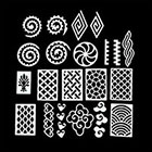 Pueen PUEEN Vinyl Nail Stencil Set 2 (#09-16) - Pack of 8 sheets - Super Sized 4x6in - Nail Art Designs Mermaid Heart Cloud Diamond Swirls & A Lot More Fun Nail Tip Guides Stickers Decal-BH000513